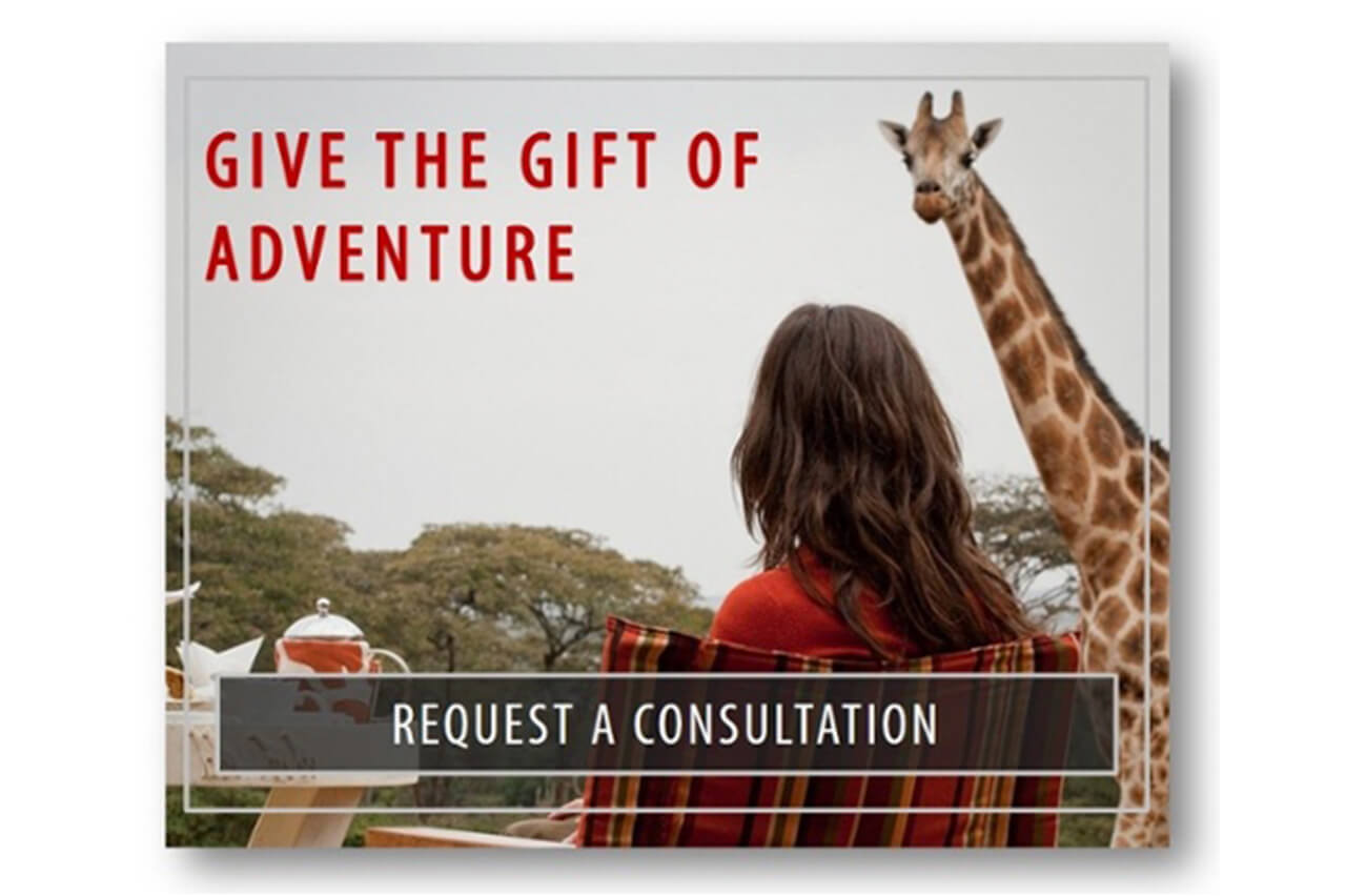 Give the gift of adventure - Request a consultation from Bushtracks Expeditions
