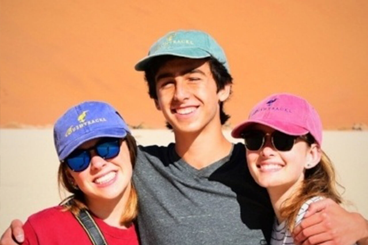 Ludwig family teens on safari in Namibia